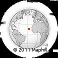 Outline Map of Chã De Queimada, rectangular outline