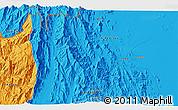 Political 3D Map of Algena