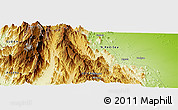 Physical Panoramic Map of Gaghet
