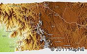 Physical 3D Map of Al Ma`ārīf