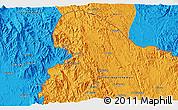 Political 3D Map of Al Ma`ārīf