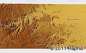 Physical 3D Map of Najrān