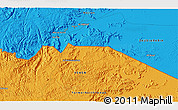 Political 3D Map of Najrān