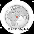 Outline Map of Najrān, rectangular outline