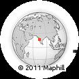 Outline Map of Pusesavali, rectangular outline