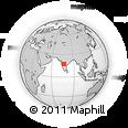 Outline Map of Gulbarga, rectangular outline