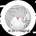 Outline Map of Malkapur, rectangular outline