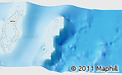 "Shaded Relief 3D Map of the area around 17° 20' 20"" N, 87° 28' 29"" W"