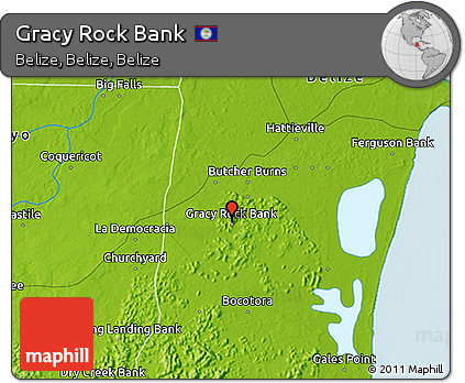 Physical 3D Map of Gracy Rock Bank