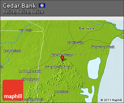 Physical 3D Map of Cedar Bank