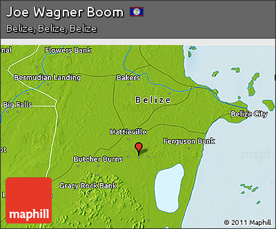 Physical 3D Map of Joe Wagner Boom