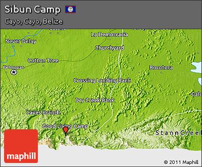Physical 3D Map of Sibun Camp