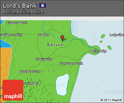Political 3D Map of Lord's Bank