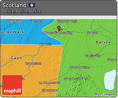 Political 3D Map of Scotland