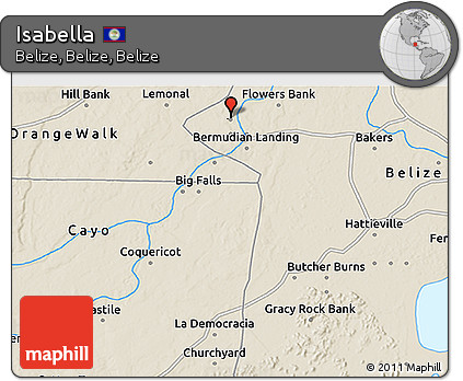 Shaded Relief 3D Map of Isabella