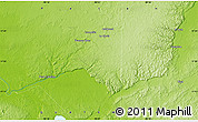 """Physical Map of the area around 17°20'20""""N,90°1'30""""W"""