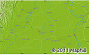 """Physical Map of the area around 17°20'20""""N,95°16'30""""E"""