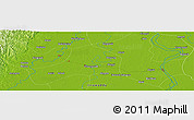 """Physical Panoramic Map of the area around 17°20'20""""N,95°16'30""""E"""