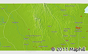 """Physical 3D Map of the area around 17°20'20""""N,96°7'30""""E"""