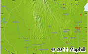 """Physical Map of the area around 17°20'20""""N,96°7'30""""E"""