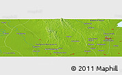 """Physical Panoramic Map of the area around 17°20'20""""N,96°7'30""""E"""