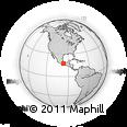 Outline Map of San Agustín Etla, rectangular outline