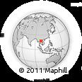Outline Map of Ban Huai Hom, rectangular outline