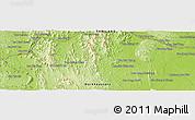 Physical Panoramic Map of Ban Huai Hom