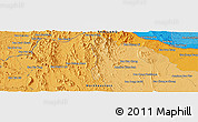 Political Panoramic Map of Ban Huai Hom