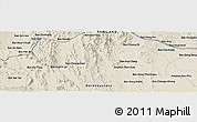 Shaded Relief Panoramic Map of Kon Sao