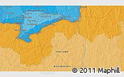 Political 3D Map of Ban Houay Kham