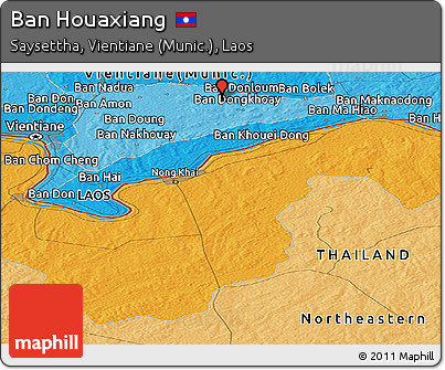 Political Panoramic Map of Ban Houaxiang