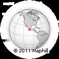 Outline Map of Las Peñas, rectangular outline