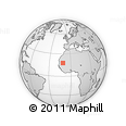 Outline Map of Sérotandi, rectangular outline