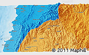 Political 3D Map of Batac