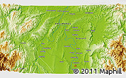"""Physical 3D Map of the area around 17°50'55""""N,121°37'30""""E"""