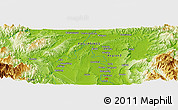 """Physical Panoramic Map of the area around 17°50'55""""N,121°37'30""""E"""