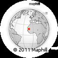 Outline Map of Magta-Lahjar, rectangular outline