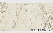 """Shaded Relief 3D Map of the area around 17°50'55""""N,37°28'30""""E"""