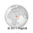 """Outline Map of the Area around 17° 50' 55"""" N, 37° 28' 30"""" E, rectangular outline"""