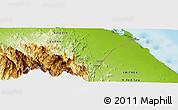 Physical Panoramic Map of Afflanda