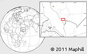Blank Location Map of Al Ghaylan