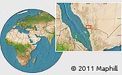Satellite Location Map of Al Ghaylan