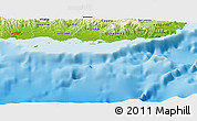 "Physical Panoramic Map of the area around 17° 50' 55"" N, 66° 13' 29"" W"