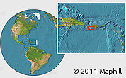 """Satellite Location Map of the area around 17°50'55""""N,67°4'29""""W"""