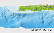"""Physical Panoramic Map of the area around 17°50'55""""N,67°4'29""""W"""