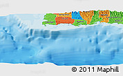 """Political Panoramic Map of the area around 17°50'55""""N,67°4'29""""W"""
