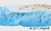 "Shaded Relief Panoramic Map of the area around 17° 50' 55"" N, 67° 4' 29"" W"