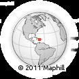 Outline Map of Pedernales, rectangular outline