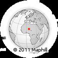 Outline Map of Niger, rectangular outline